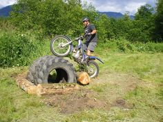 Backyard Motorcycle Trials Obstacles/Courses