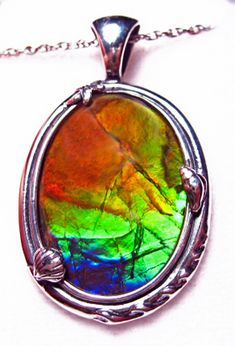 Ammolite Oval Sterling Silver Nautical Pendant 26SP$499.99#ammolite #korite #ammonite #fengshui #canada #canadagems #canadianammolite #gemstones #jewelry #jewelryaddict #photooftheday #jewelryoftheday #jewelrygram #colorful #gem #gems #opal #minerals #natureinspired #rainbow #alberta #fossil #Alaska #followersofinstagram #isellrocks #art #handmade #lapidary #madeinmontana #ammolite #inspired