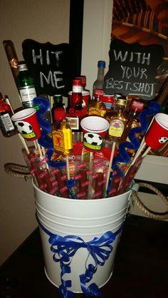 Soccer raffle booze bouquet