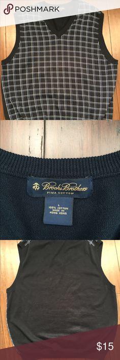 BROOKS-BROTHERS-Size-L-PIMA-COTTON V neck Sweater BROOKS BROTHERS  Men's Size L PIMA COTTON Blue/White Stripes V-neck Sweater Vest   thank you for looking! Brooks Brothers Jackets & Coats Vests