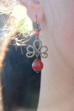 Boho earrings Rustic earrings Hippie earrings Artisan by Estibela