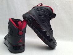 Nike Air JORDAN AJF 9 BLACK VARSITY RED 352738-061 Youth Basketball Shoes Sz 6Y #Nike #BasketballShoes