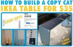 ikea table build yourself