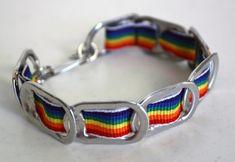 Rainbow+Soda+Tab+Bracelet+by+reVisionDesign+on+Etsy,+$7.00
