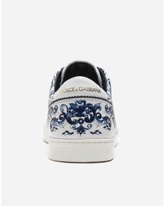 5233be9ea5b8 Dolce   Gabbana - Blue London Sneakers In Printed Leather - Lyst