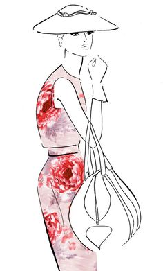 love this sketch w floral dress