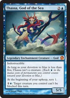 Amazon.com : Magic: the Gathering - Thassa, God of the Sea - Theros : Collectible Single Trading Cards : Toys & Games