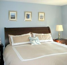 Paint color for bedroom: Benjamin Moore Santorini blue