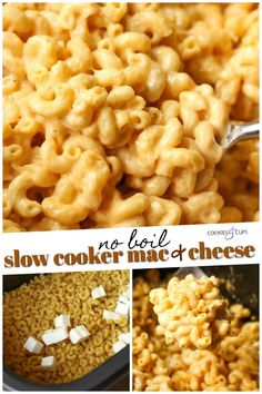 This NO BOIL Slow Cooker Mac and Cheese Recipe turns out creamy and delicious! Perfect for a weeknight crock pot meal, game day, or a party! You don't have to boil the pasta before filling your Crock Pot! Easy Crockpot Mac And Cheese Recipe, Crockpot Cabbage Recipes, Easy Mac And Cheese, Vegetarian Crockpot Recipes, Mac And Cheese Homemade, Cooker Recipes, Crockpot Meals, Crockpot Recipes Party, Crock Mac And Cheese