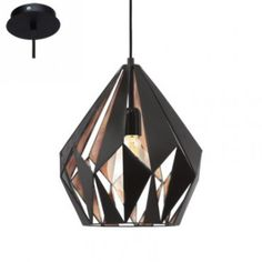 The Eglo 49254 is a 1 light ceiling pendant in black/copper. This fitting is from the range by Eglo. Geometric Pendant Light, Cage Pendant Light, Mini Pendant Lights, Pendant Light Fixtures, Ceiling Pendant, Light Fittings, Pendant Lamp, Modern Pendant Light, Ceiling Lights