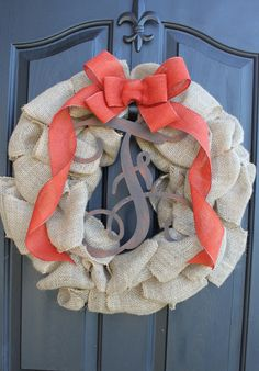 Burlap Wreath  Etsy Wreath  Fall Wreaths  Fall by OurSentiments