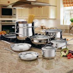 Cuisinart Contour 13-piece Stainless Steel Cookware Set