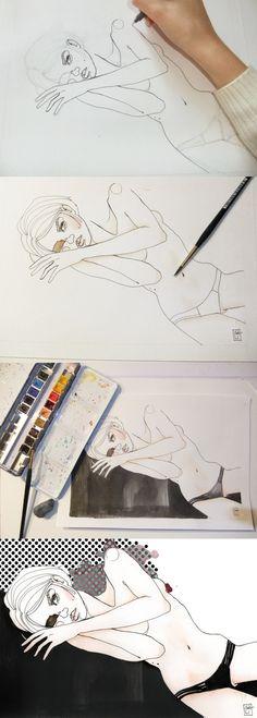 Lingerie Illustration afa9a3a1a