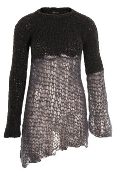 5cf32ff776 Sweater asymmetric This hand-knitted asymmetric sweater is combining chunky  alpaca with light mohair.