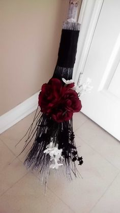 Handfasting besom will need one more geared toward Yule Wedding Broom, Wiccan Wedding, Celtic Wedding, Gothic Wedding, Wedding Ceremony, Jumping The Broom, Wiccan Decor, Pagan Art, Witch Broom