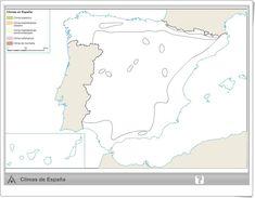 Mapa interactivo climático de España (Editorial Anaya) Social Science, Anaya, Printables, Weather, World, Editorial, Socialism, Weather Charts, Interactive Map