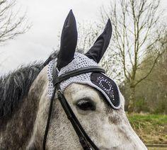 flybonnet, strass, rhinestone earbonnet, fly bonnet horse, pony ear bonnet, custom flybonnet, horse pic