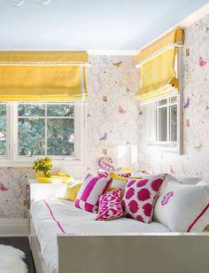 butterfly girls bedroom // Nicole Hollis // Lonny #butterfly #yellow #bedroom