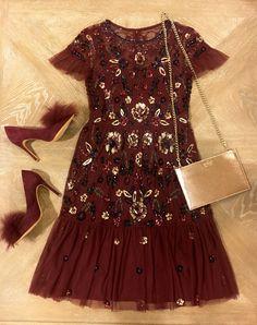 990bd6e04ee Gianni Bini Wendy Short Sleeve Floral Sequin Dress Floral Sequin Dresses