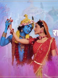 Radha Krishna Holi, Radha Krishna Quotes, Radha Krishna Pictures, Radha Rani, Krishna Photos, Krishna Love, Krishna Art, Radhe Krishna, Lord Krishna Wallpapers