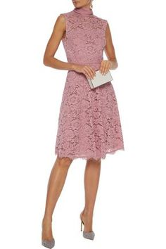 Shop on-sale Tie-neck corded lace dress. Browse other discount designer Knee Length Dress & more luxury fashion pieces at THE OUTNET Baby Pink Dresses, Baby Dress, Coat Dress, Jacket Dress, Dress Outfits, Fashion Outfits, Denim Shop, Dresses For Sale, Dress Sale