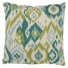 Gunnison Toss Pillow Collection - Green/Blue Ikat : Target