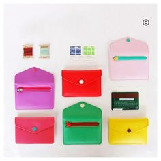 Jam studio Rainbow card case wallet with zip pocket (http://www.fallindesign.com/jam-studio-rainbow-card-case-wallet-with-zip-pocket/)