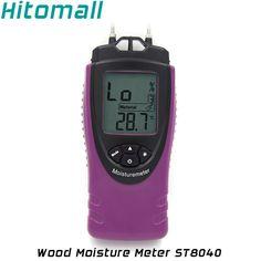 Digital Wood Moisture Meter Wood Humidity Bamboo Timber Building Materials Moisture Tester Temperature Moisture Tester ST8040