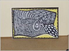 TRADED Serie: ZIA - Zentangle (c) Inspiration  No. 01/2015  Técnica: Rotuladores y Lápices de Color
