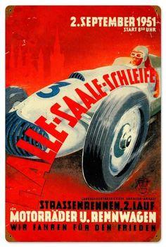 Halle Saale Racetrack Tin Sign