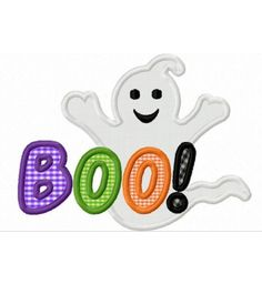 Instant Download Halloween Ghost BOO  Applique Machine Embroidery Design NOIT IS NOT TO SCARE SOMEONE. I WANT TO LEARN HOW TO SEW AND HAVE ONE OF THESE MACHINES THAT DO ALL THIS