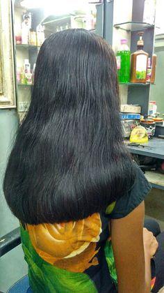 U Cut Hairstyle, Bun Hairstyles For Long Hair, Braids For Long Hair, Trending Hairstyles, Bob Hairstyles, Indian Hair Cuts, Indian Long Hair Braid, Crop Hair, Hair Flow