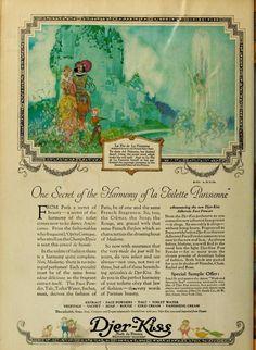 Fairies and Little Folk: Fairie Folk Vintage Advertisements, Vintage Ads, Vintage World Maps, Perfume Ad, Vintage Perfume, Magazine Illustration, Illustration Art, Illustrations, Art Deco Fashion