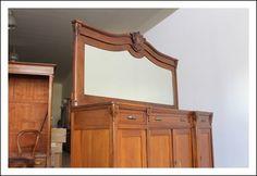 credenza a specchio : Servante Liberty epoca 1910 Credenza con specchio Antiquariato Antica
