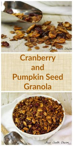 Cranberry and Pumpkin Seed Granola is a great breakfast or snack. It's full of warm, comforting Fall flavors and it's good for you too!