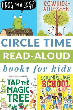 No-fail circle time books to read to kids during circle time. This list ticks all the boxes for what type of book works best for circle time. Includes a printable book list. #circletime #booksforkids #teaching #GrowingBookbyBook #preschool Preschool Books, Preschool Learning Activities, Writing Activities, Circle Time Songs, Circle Time Activities, Toddler Circle Time, Classroom Calendar, Read Aloud Books, Book Works