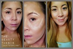 """""""""""Contouring makeup tricks to showcase your natural facial features!"""""""" I like how she does it, it's a little bit different shapes than usual."""