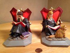 RARE Harry Potter Hermione Granger Bookends Warner Bros. Prisoner of Azkaban