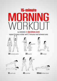 15 minute morning workout, krav maga