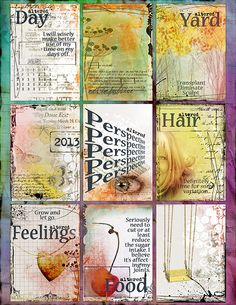 One Little Word - Love her page and her word: altered