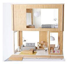 Miniko+Dollhouse+with+furniture+by+Miniio Now this is a great dolls house!!!