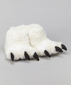 Loving this White Bear Paw Slipper - Kids & Adult on #zulily! #zulilyfinds