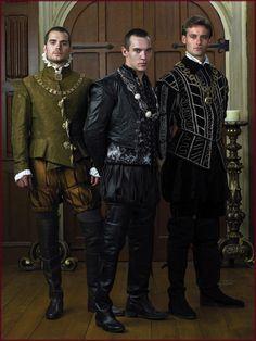 Os trajes masculinos da corte inglesa de Henrique VIII. A série The Tudors como inspiração medieval. #casamento #criatividade