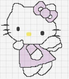 Schema punto a croce Hello Kitty 2