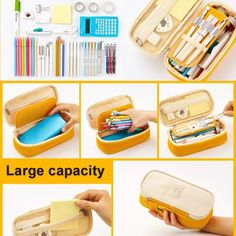 Material Canvas Size x x inches (or 21 x 10 x 7 cm) Features High capacity (Can fit in 40 pens, 3 erasers, and 1 pair of scissors) Stationery organizer  Guaranteed delivery or your money back! Learn more at our Shipping and Returns page :) Cool Pencil Cases, School Suplies, Best Pencil, Cute School Supplies, Korean School Supplies, Office Supplies, Bags Travel, School Accessories, Pencil Bags