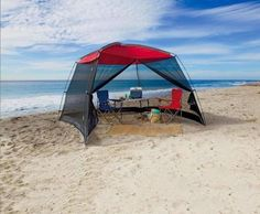 Beach-Tent-Canopy-Pop-Up-Instant-Shade-Shelter-Screen-Camping-Gazebo-Sun-Protect