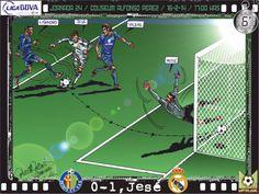 Getafe CF, 0 - Real Madrid CF, 3 - Jesé, 0-1, min.6'