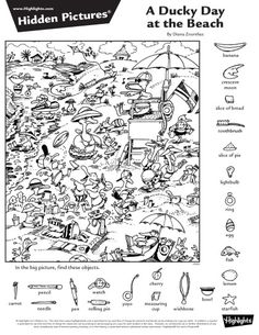 English Activities, Teaching Activities, Craft Activities For Kids, Teaching Kids, Highlights Hidden Pictures, Hidden Pictures Printables, Hidden Picture Puzzles, Paper Games, Kids English
