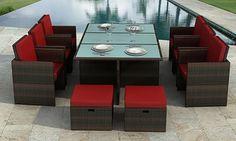 Groupon - Essgruppe Bali im Rattan-Stil in Schwarz, Braun oder Hellbraun inkl. Versand. Groupon deal price: 799€