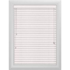 Bali Essentials 2 inch Wood Blind, No Holes, Corded, Snow, White